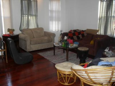 2 bathrooms, two levels, big living room and kitchen, yard, W/D onsite