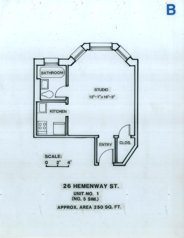 Studio on Hemenway St., Avail 06/07, HT/HW, Parking Available