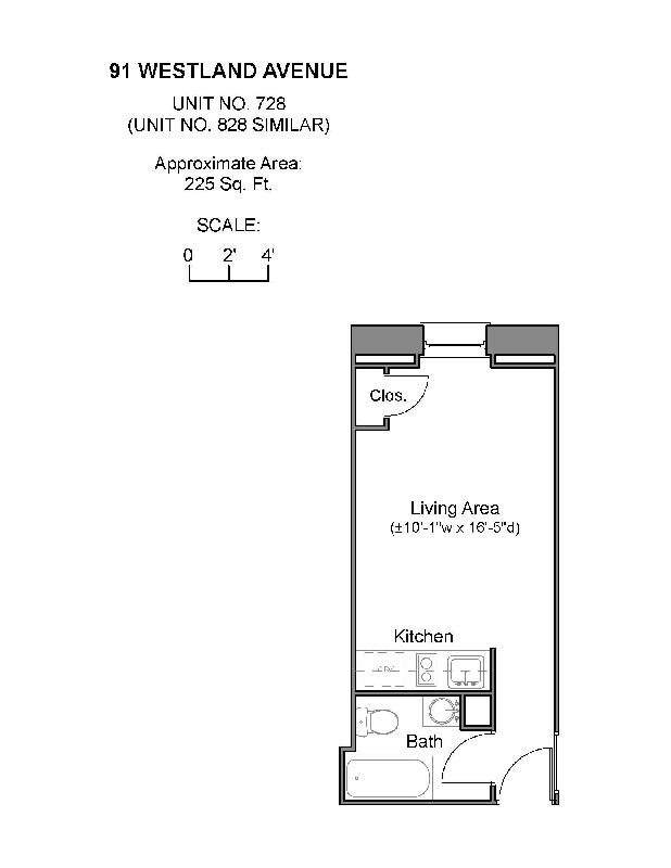 Studio on Westland Ave., Include Util., Avail 01/07, Street Parking