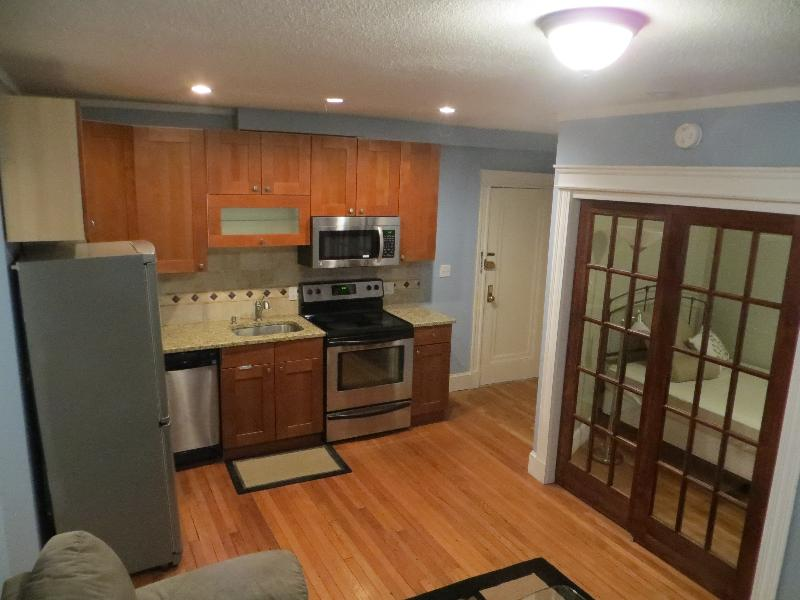 Beautifully furnished 1BR w/ modern bath,heat/HW included.Walk to T!