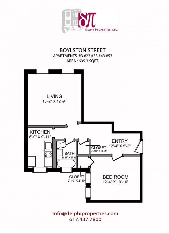 1 Bd on Boylston St., Pet Ok, Avail 09/01, Hardwood Floors