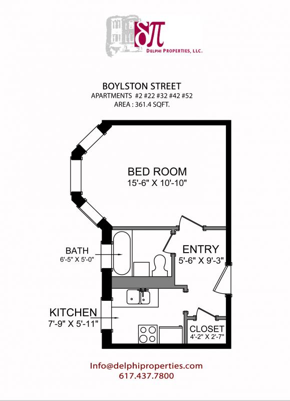 Studio on Boylston St., Pet Ok, Hardwood Floors, Laundry in Building