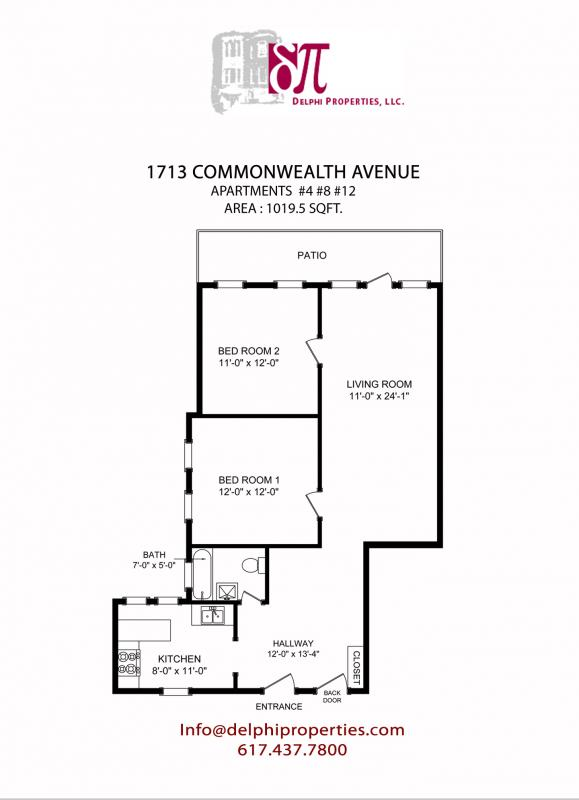 Dope 2BD on Comm Ave. for 9/1 ample closet sp, PORCH, W/D onsite