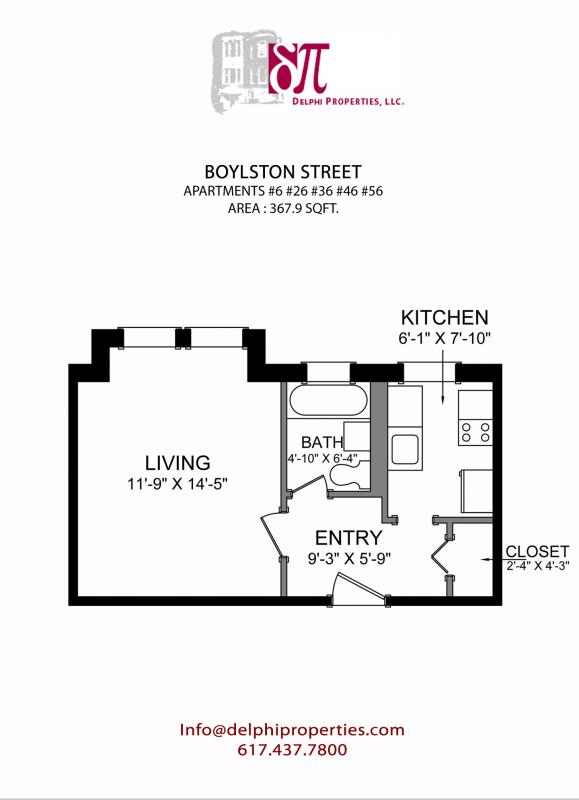 Studio on Boylston St., Pet Ok, Elevator, Laundry in Building