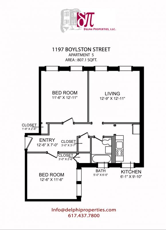 2 Bd on Boylston St., Pet Ok, Laundry in Building