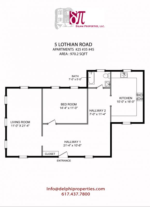 1 Bd on Lothian Rd. in Brighton, Pet Ok, HT/HW, Avail 7/1