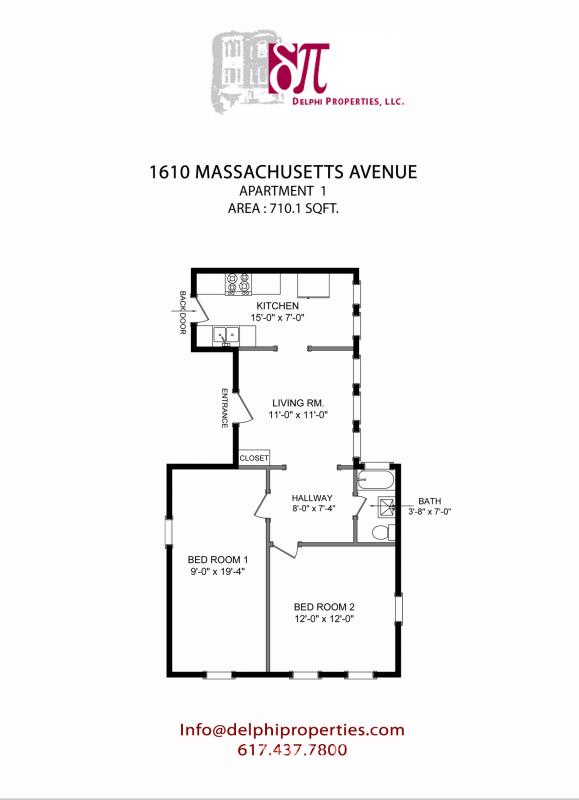 2 Bd on Massachusetts Ave., Pet Ok, Avail 09/01, HT/HW, Street Parking