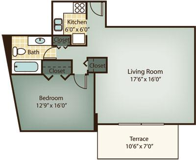 1 Bd on Beacon St., Pet Ok, Garage Parking, Laundry in Building, A/C