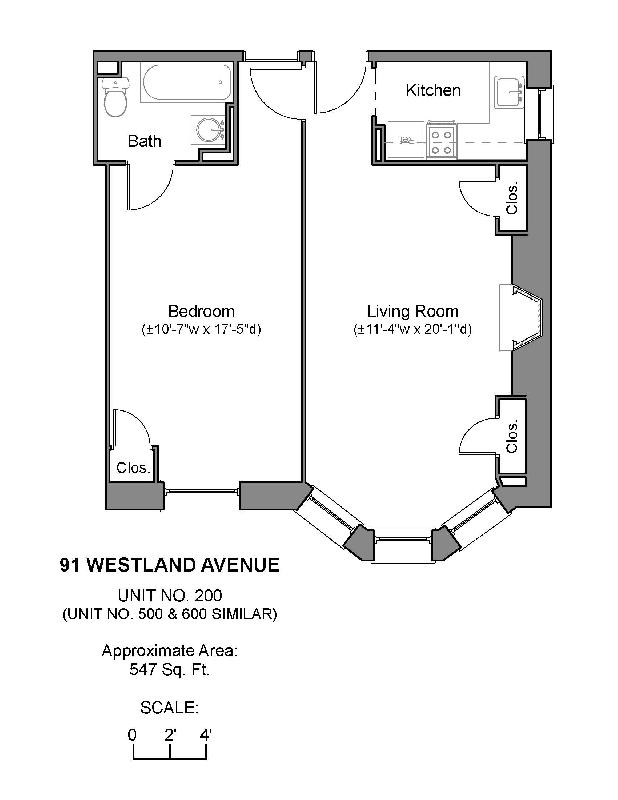 1 Bd on Westland Ave., Parking For Rent, Concierge, Laundry in Buildin