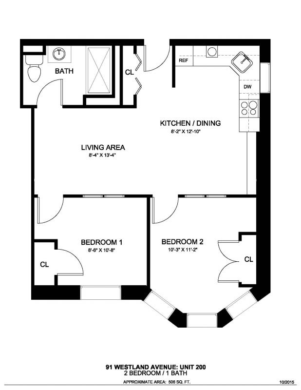 2 Beds, 1 Bath apartment in Boston, Fenway for $3,060